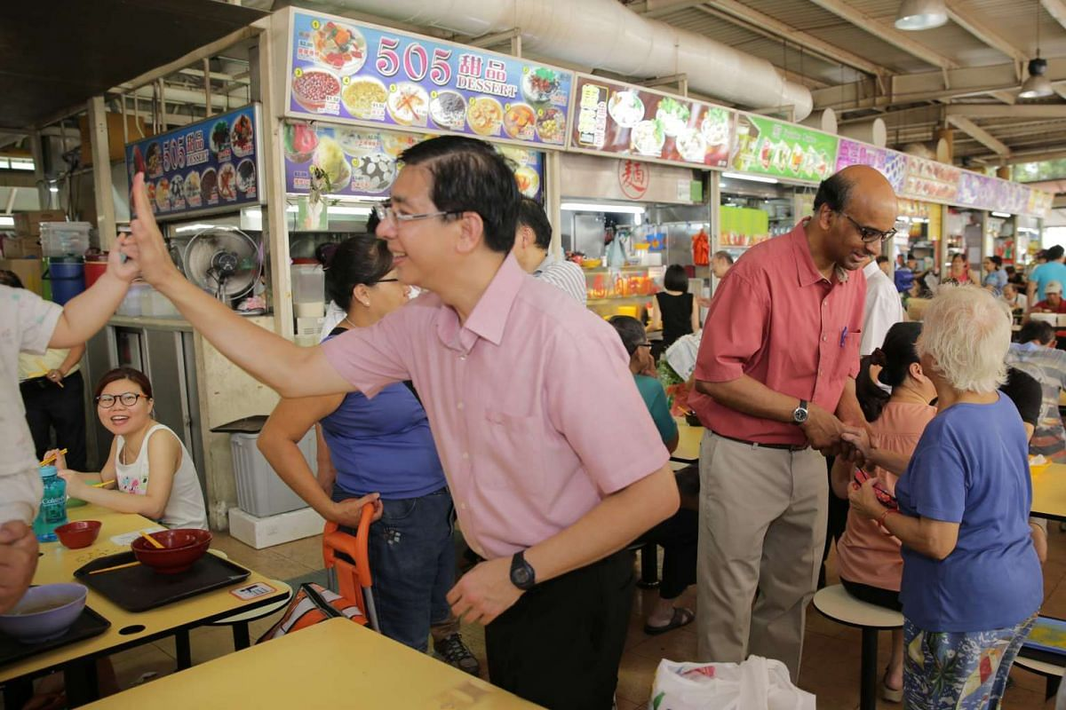 The People's Action Party team for Jurong GRC thanking residents for their support at Jurong West on Sept 12, 2015.