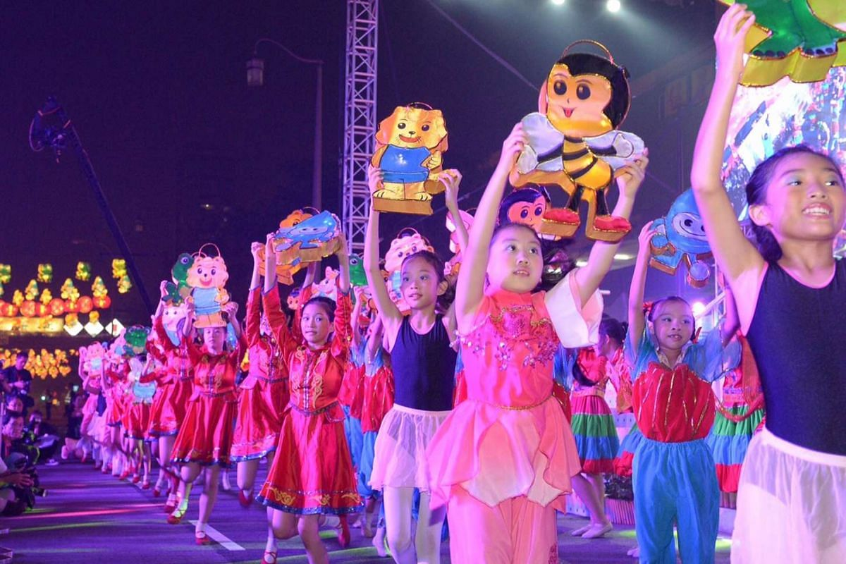 The dancers include students from schools such as Bukit Panjang Primary School, among others.