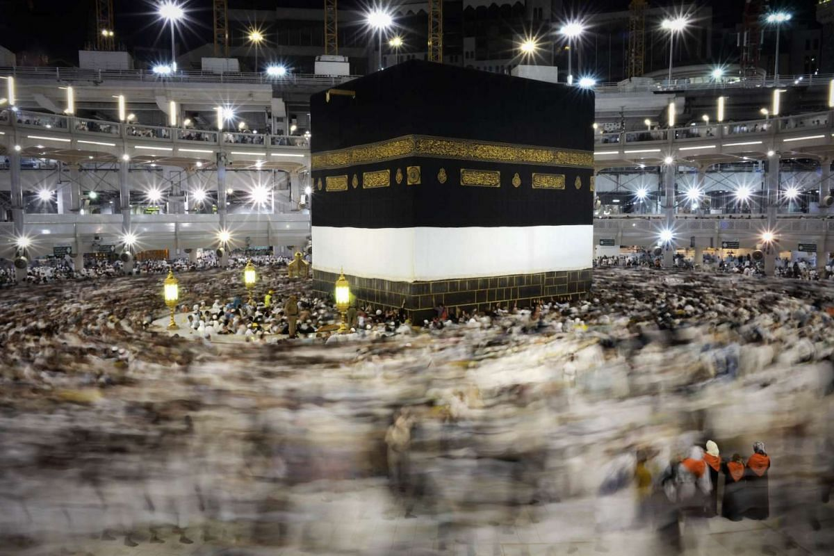 Pilgrims circling counter clockwise around Islam's holiest shrine, the Kaaba, at the Grand Mosque in the Saudi holy city of Mecca, on Sept 20, 2015. The annual haj pilgrimage begins on Sept 22, and more than a million faithful have already flocked to