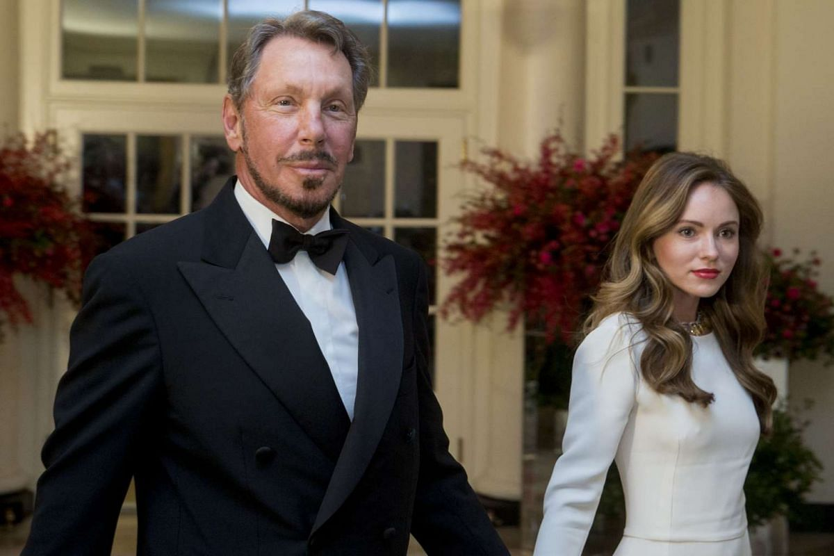 Mr Larry Ellison, executive chairman and CTO of Oracle Corporation, and his girlfriend Nikita Kahn.
