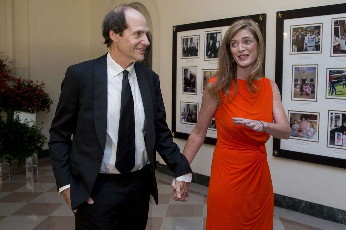 US Ambassador to the United Nations Samantha Power and her husband Cass Sunstein.