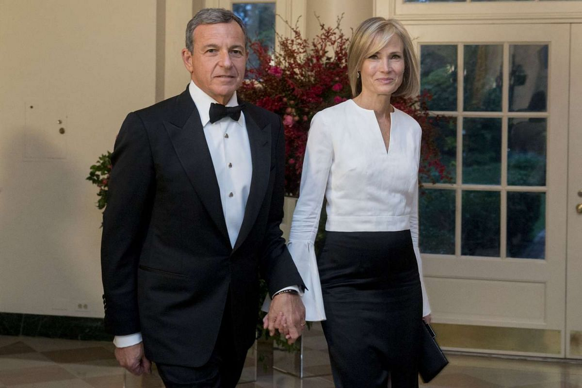 "Mr Robert ""Bob"" Iger, chairman and CEO of Walt Disney, with his wife Willow Bay."
