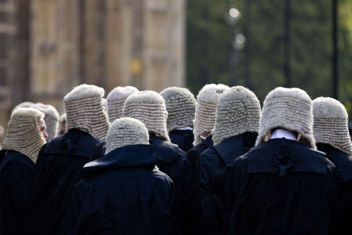 Judges making their way to the Palace of Westminster in central London as part of a tradition to mark the start of the new legal year, on Oct 1, 2015. The British legal year, which traditionally begins in October, is marked by a procession of judges