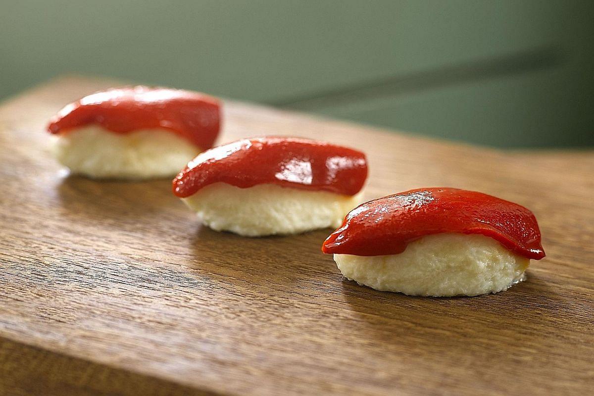 Menu highlights include Spanish Omelette, Wagyu Beef Intercostals (above) and Spanish Nigiri.
