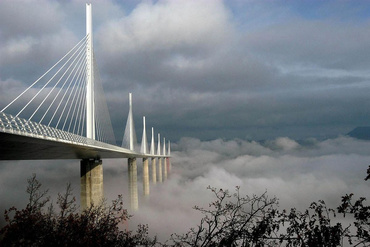 Costing approximately €400 million (S$637 million), the Millau motorway viaduct bridge has been consistently ranked as one of the greatest engineering achievements of all time. In 2006, the bridge received the International Association for Bridge a