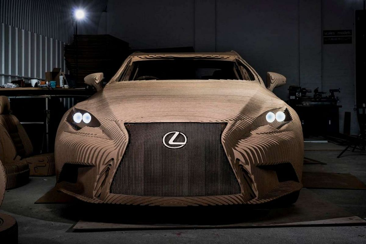"""Lexus' """"Origami Car"""" will be on display to the public at the Grand Designs exhibition in Birmingham from Oct 8, 2015."""