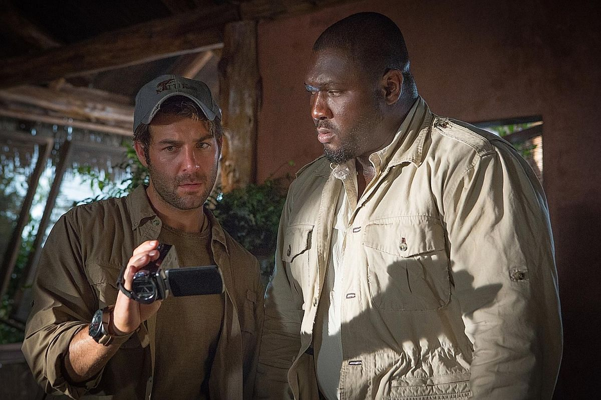 James Wolk (left) and Nonso Anozie investigate violent animal attacks in Zoo.
