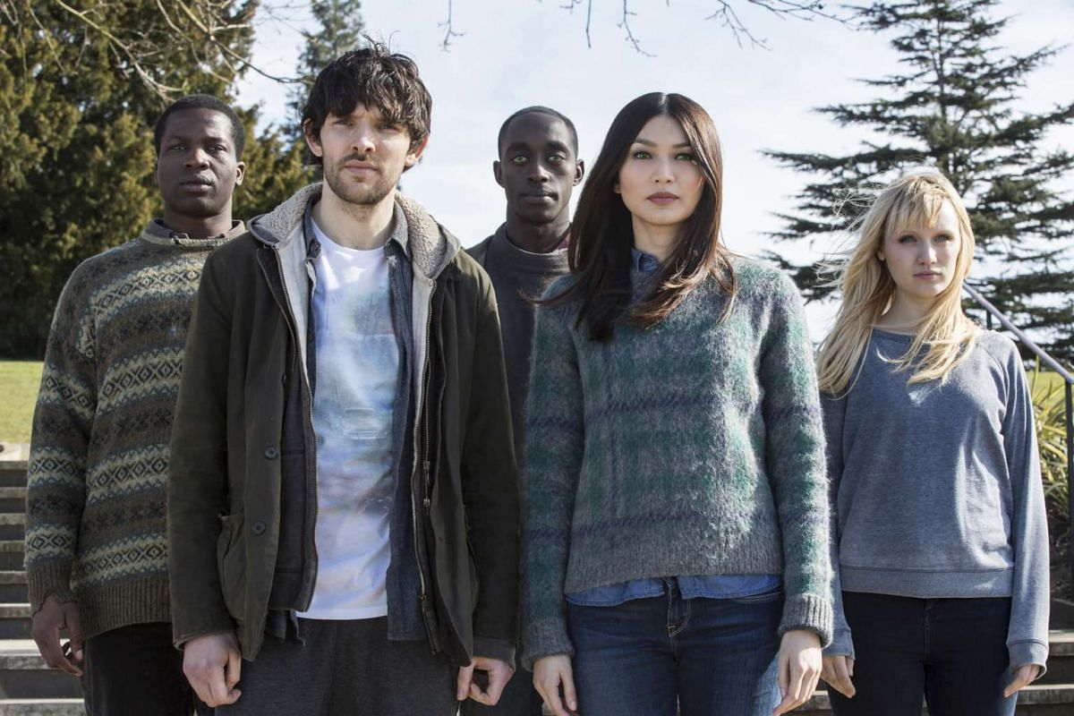 A still from the TV series Humans, starring Gemma Chan (second from right).