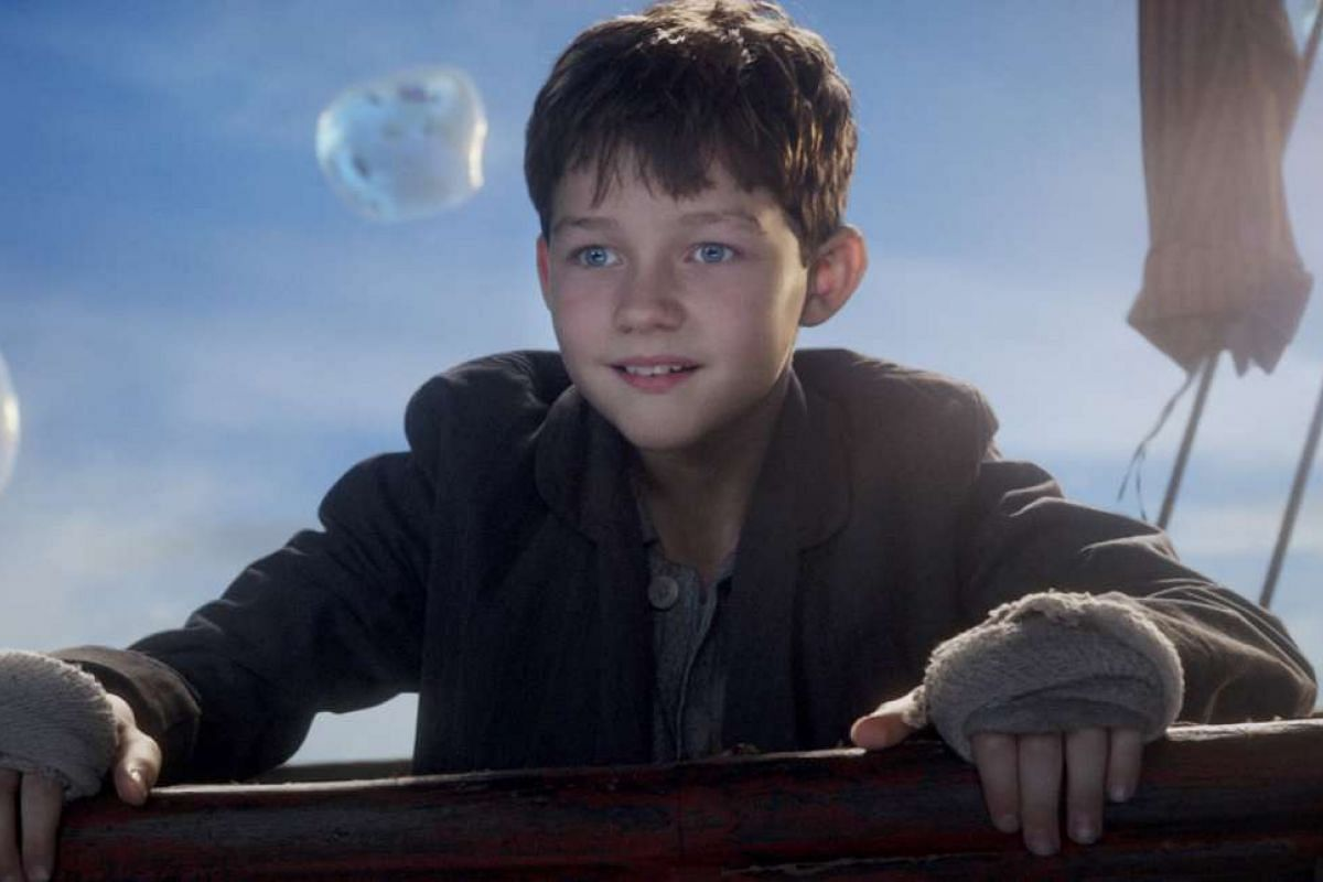 Levi Miller (above) plays an orphan in the 3-D Pan with real scares.