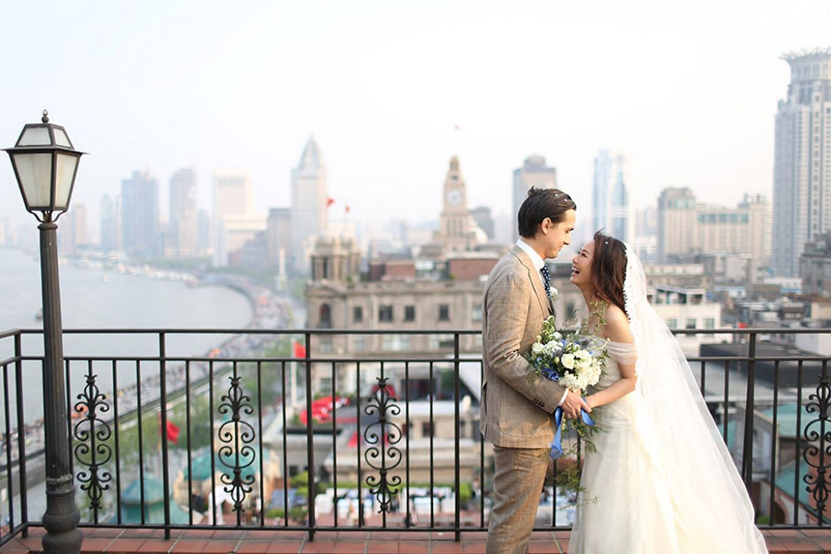 Ms Tiffany Tan, owner of home and living e-tailer Cluster-Cluster, married British entrepreneur Gordon Steel at the Fairmont Peace Hotel in Shanghai earlier this year.