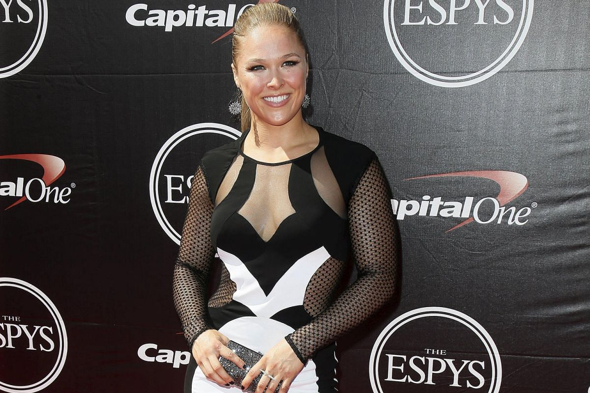 Ronda Rousey at the 2015 Espy Awards in Los Angeles, California, in July.