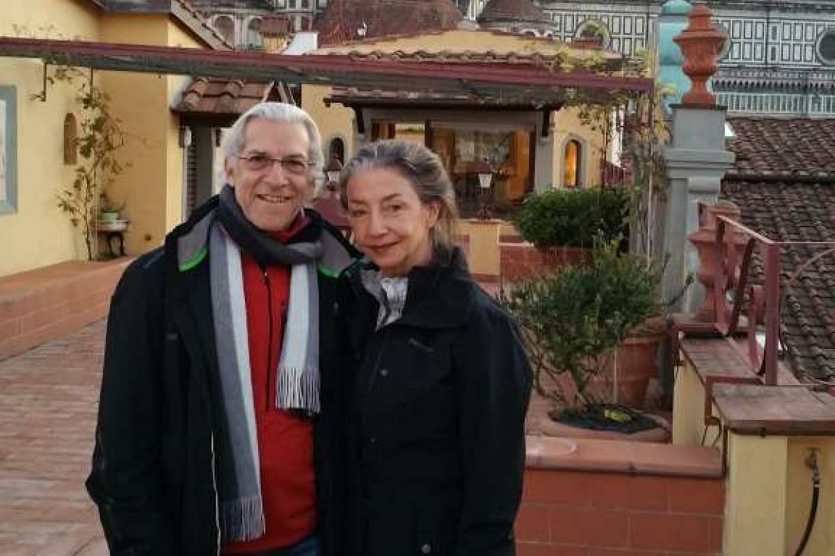 Mr Mark Edleson with wife Mary Jane at the Palazzo Pucci, Florence, last year