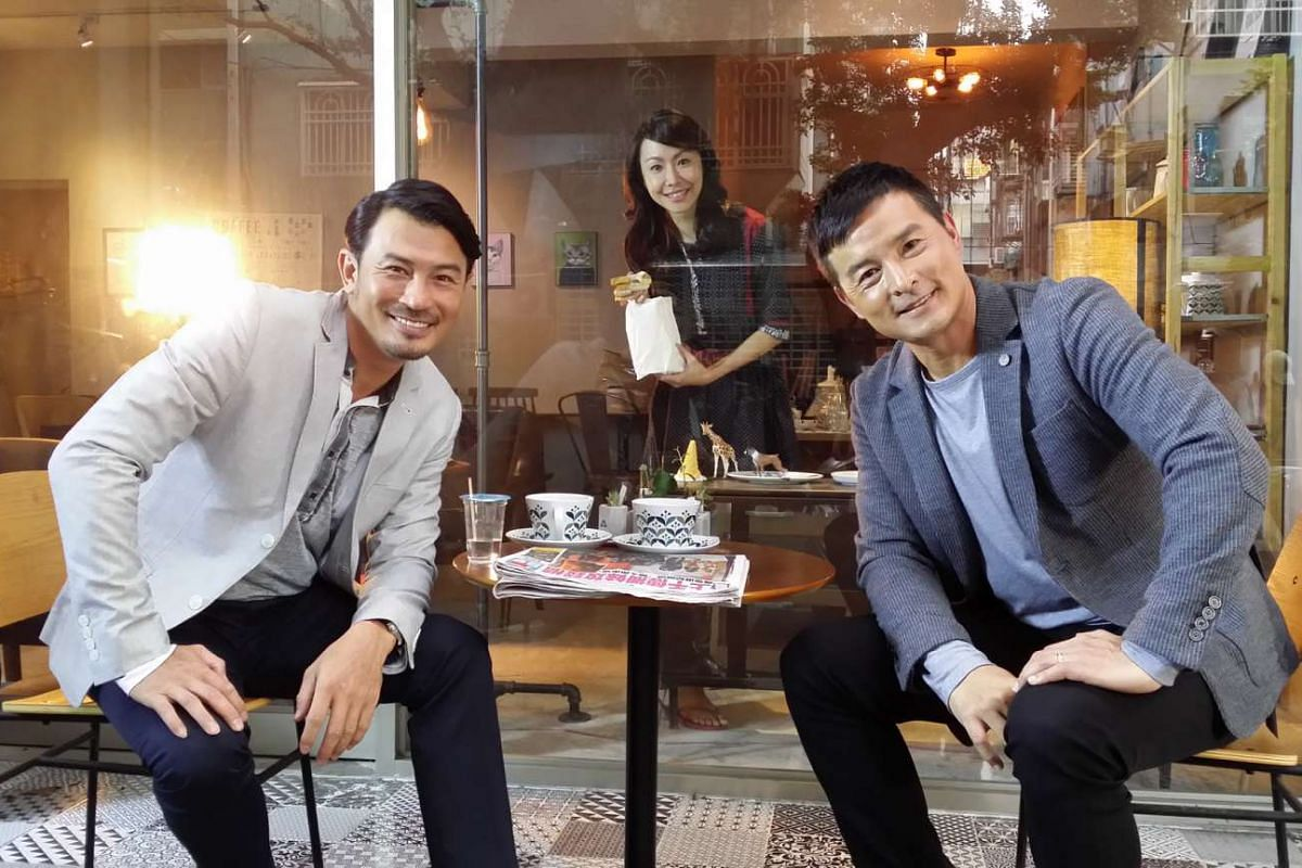 Playing the grown-up characters in Crescendo are (from left) Darren Lim, Ann Kok and Christopher Lee.