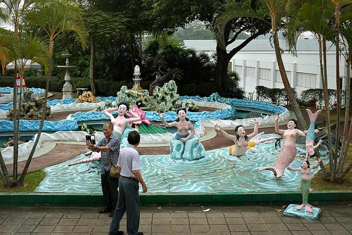Haw Par Villa is the last of three large philanthropic gardens built to give outdoor respite to people in congested Singapore. The others were the mid-1800s Balestier-based Nam Sang Hua Yuan and the 1929 Alkaff Lake Gardens off MacPherson Road.