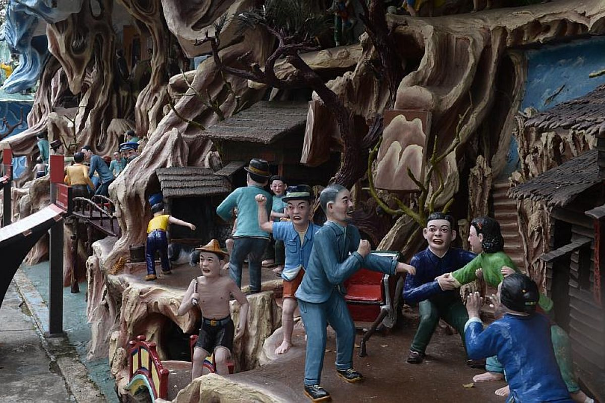 Despite being government-owned, Haw Par Villa has yet to be conserved under the Urban Redevelopment Authority or preserved under the National Heritage Board's Preservation of Sites and Monuments division.
