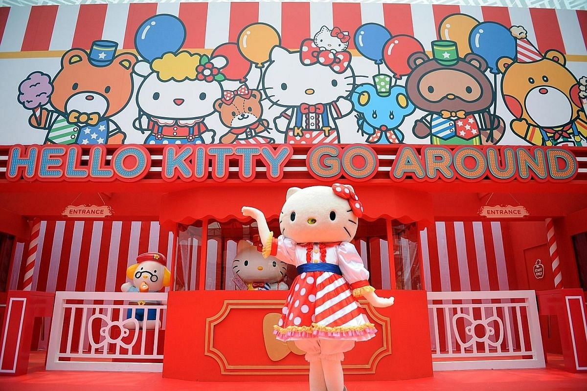 Hello Kitty Go Around is making its maiden voyage outside Hong Kong to Singapore