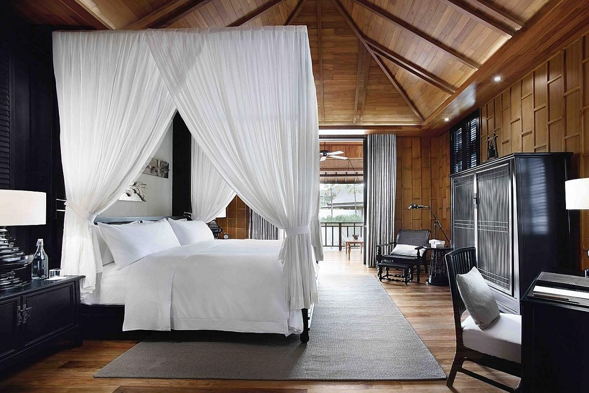 The Thai villa bedroom at The Sanchaya in Bintan.