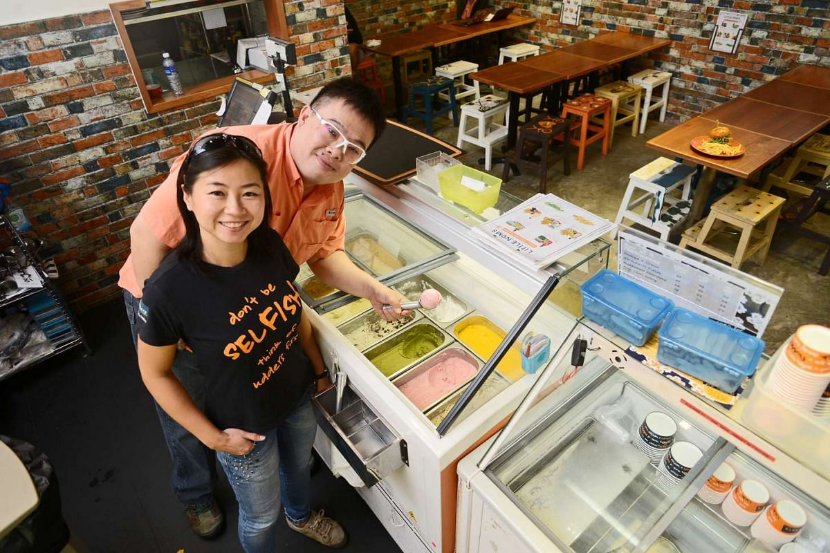 Udders co-owners David Yim and his wife Wong Peck Lin (both above) are all about keeping things fun.
