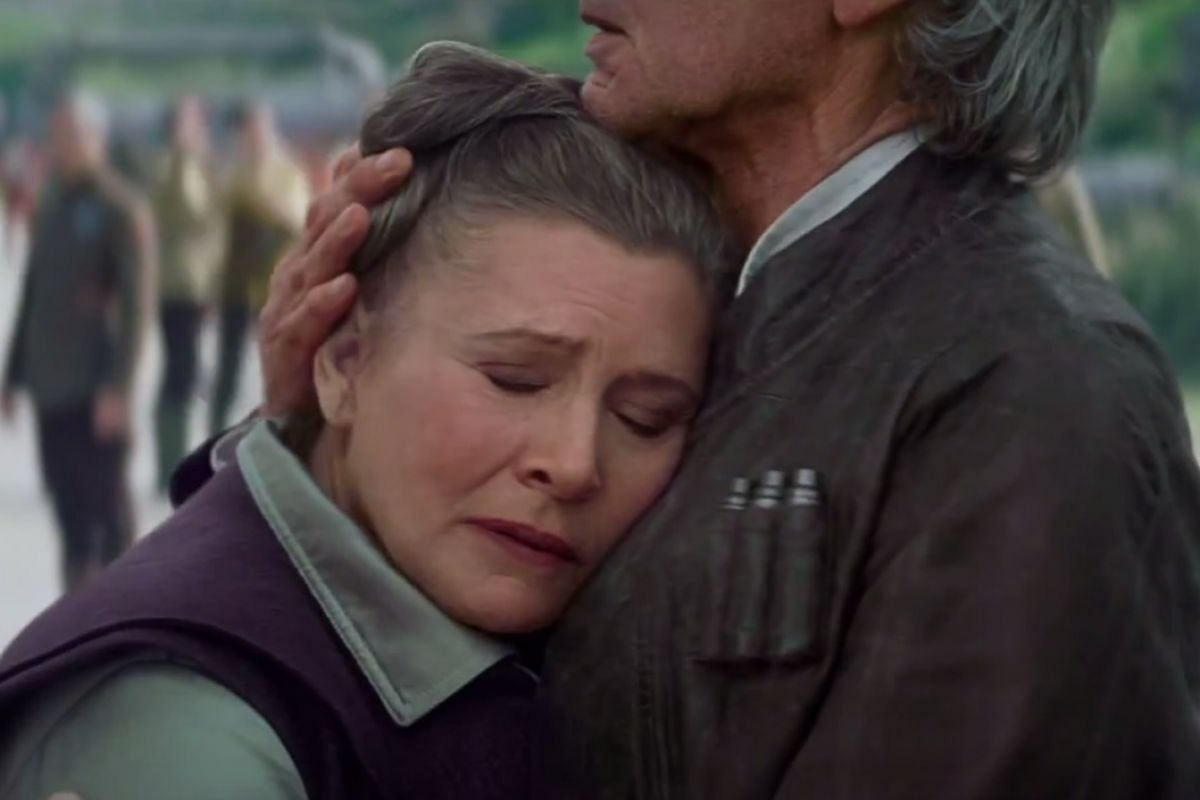 The latest trailer of  The Force Awakens features franchise veteran Carrie Fisher for the first time.