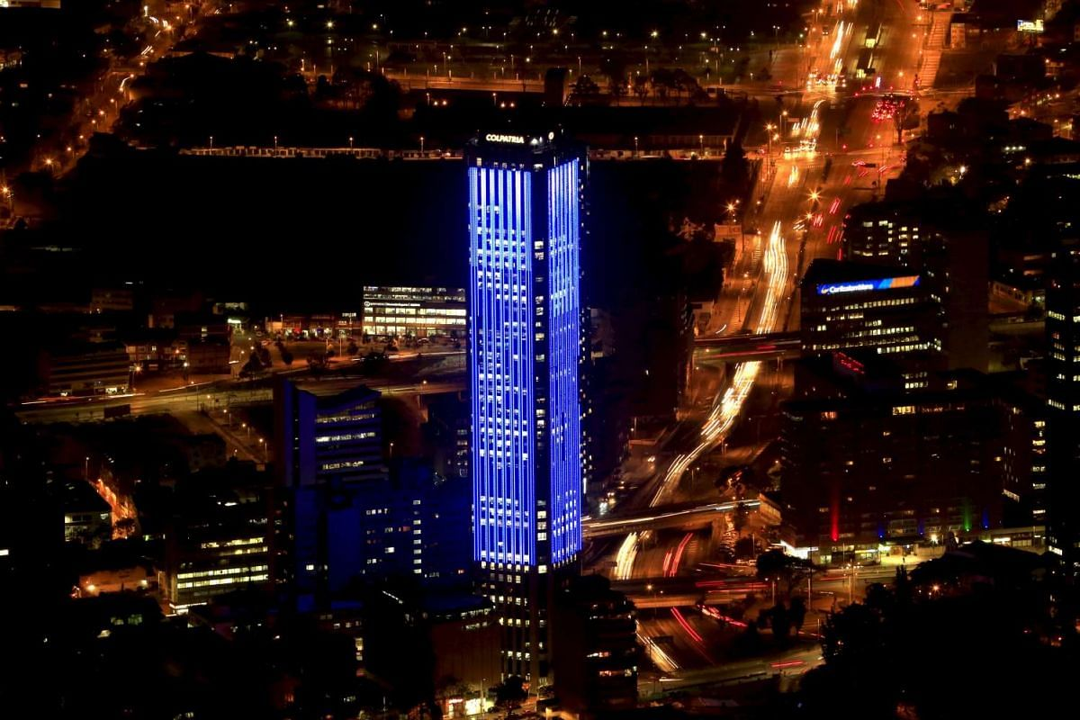 The Colpatria tower in Bogota, Colombia.