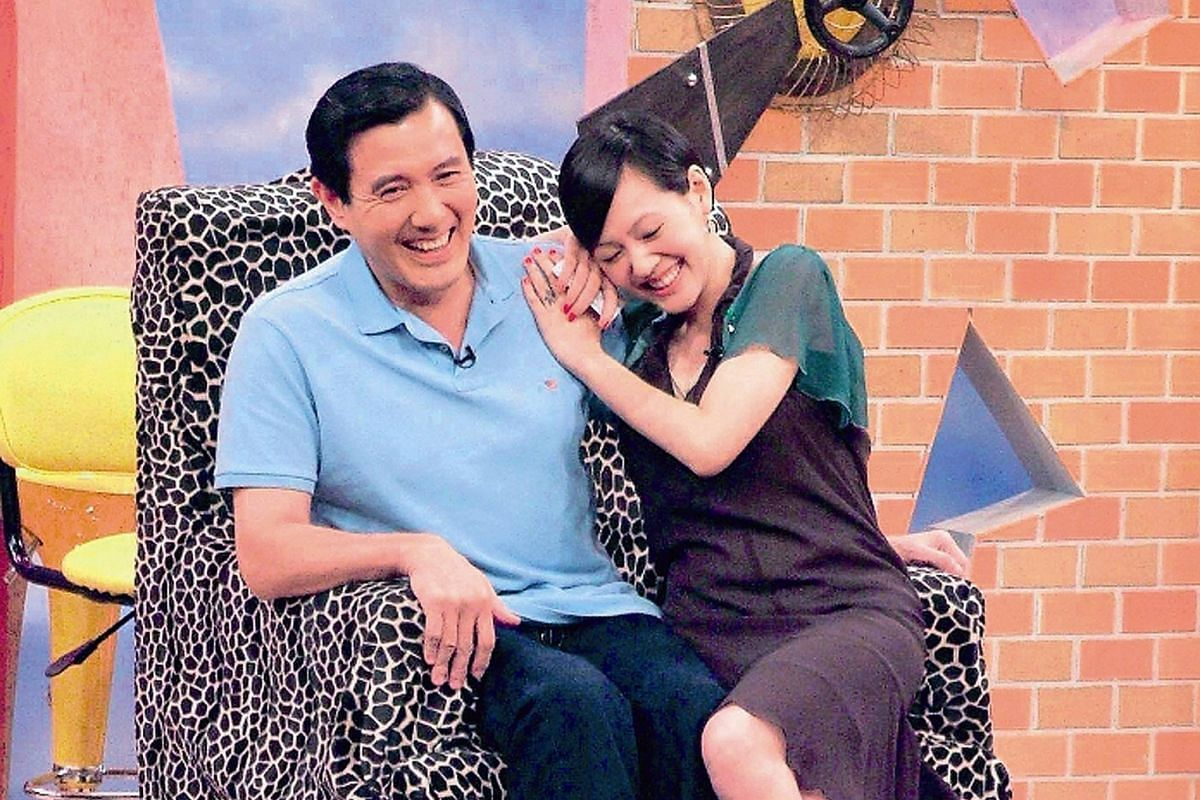 In an episode in January, Dee Hsu (above centre) makes up with ex-boyfriend and TV show host Mickey Huang (above left) as Kevin Tsai looks on. Taiwanese President Ma Ying-jeou was a guest on the show when he was Taipei mayor. To commemorate the 10th