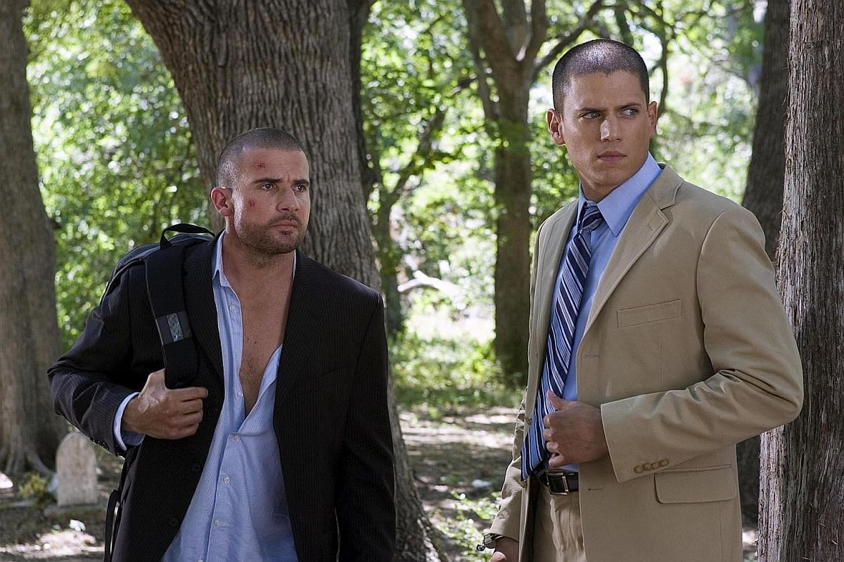 Dominic Purcell (left) and Wentworth Miller (right) in Prison Break.