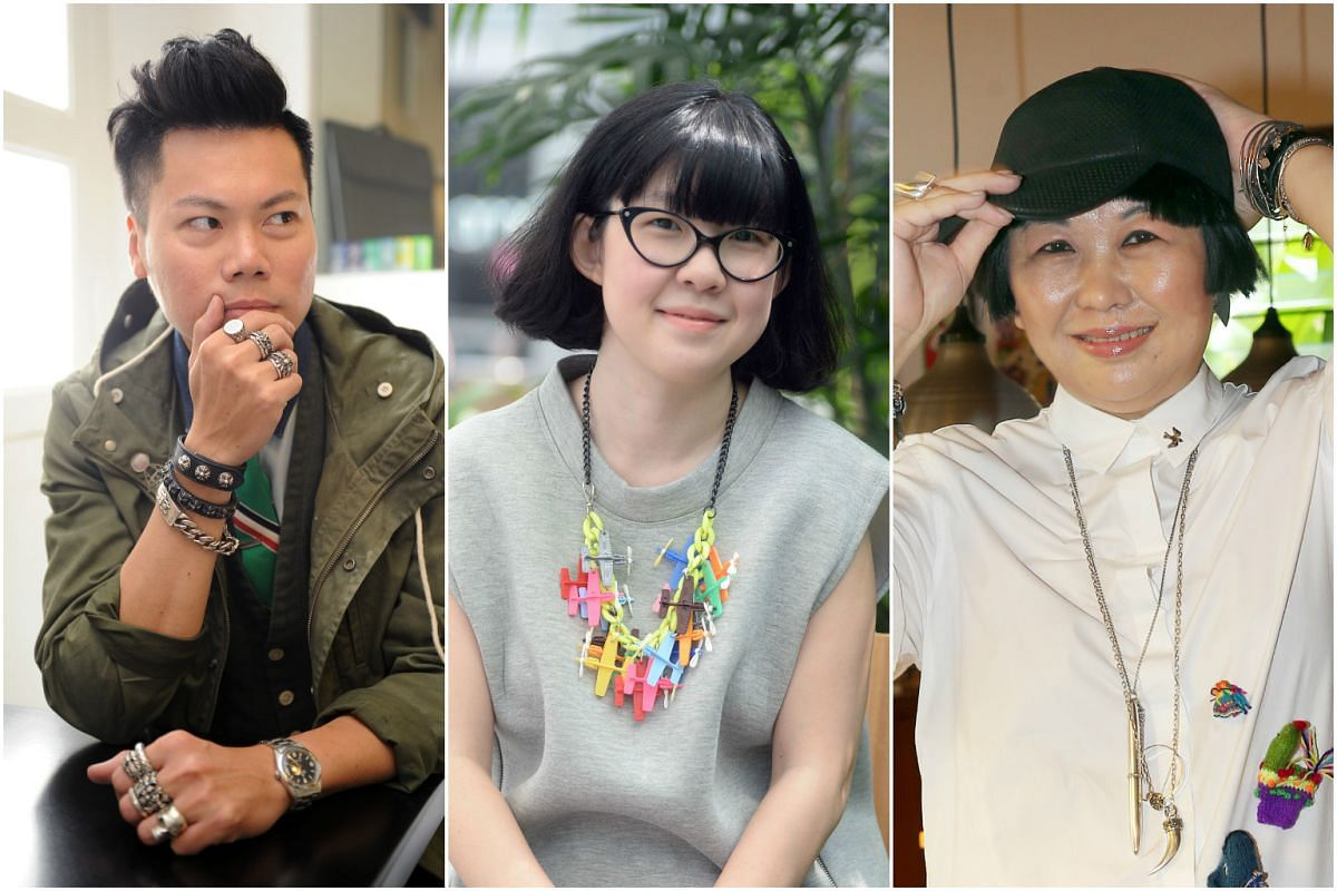 (From left) Mr Felix Siow, Ms Seah Yun Ting and Ms Joyce Ong have a knack for wearing accessories.