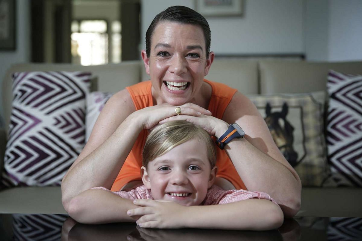 When single mum Laura Richardson (above) was battling breast cancer, her friends took turns to babysit her son Rex.