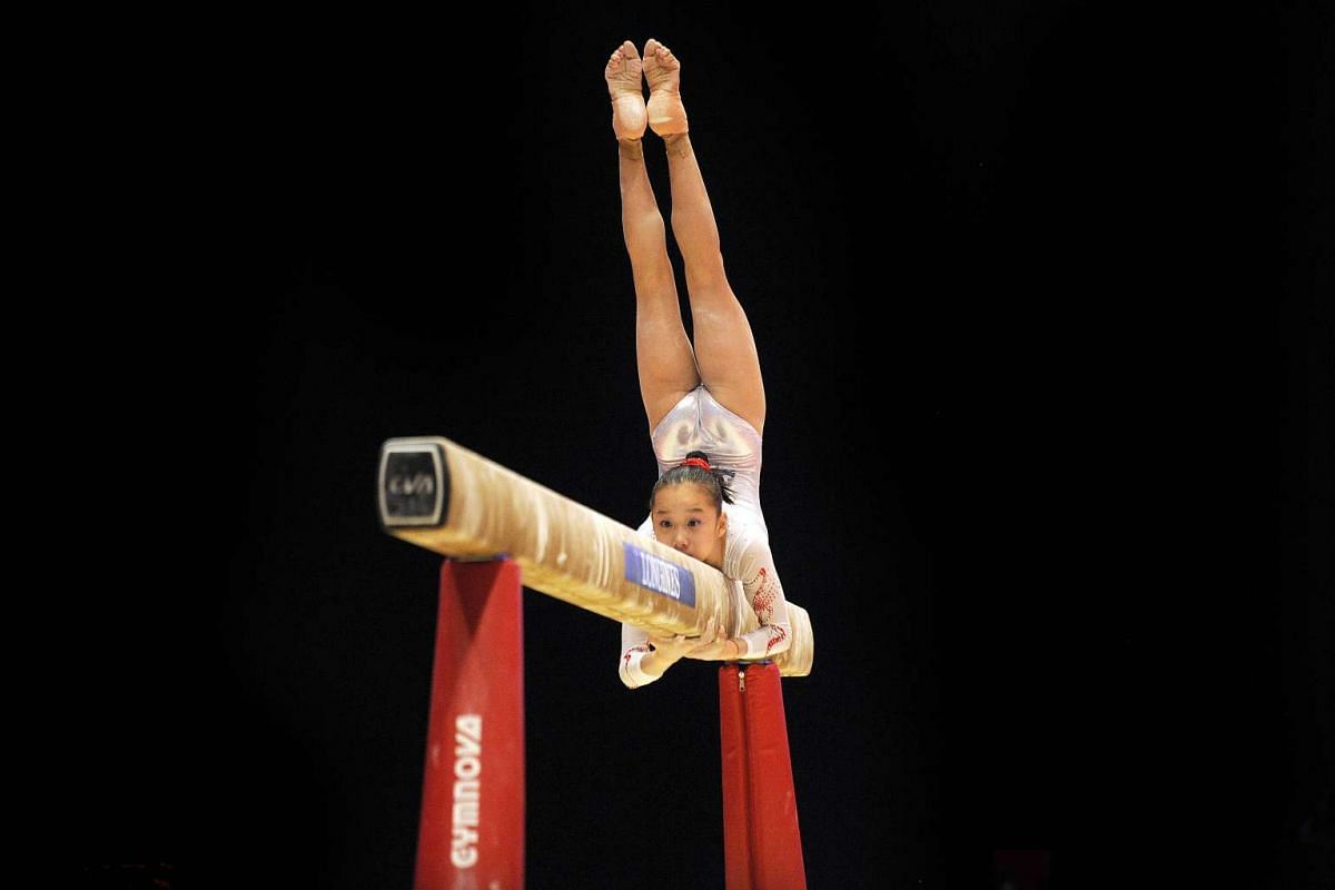 China's Fan Yilin competing on the beam during the second day of the 2015 World Gymnastics Championships.