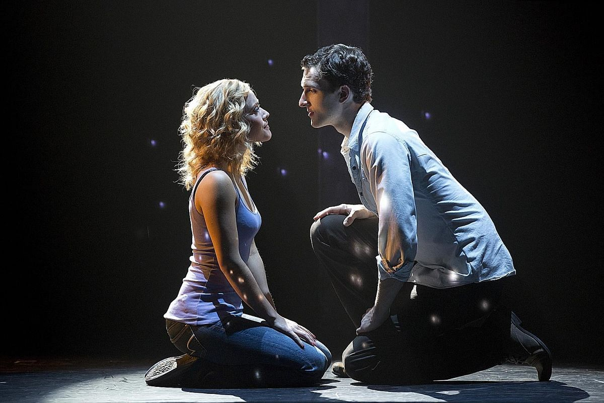 The love story of a man and the spirit of his dead wife continues as a musical (left), with a script by Bruce Joel Rubin (below left), who also wrote the movie.