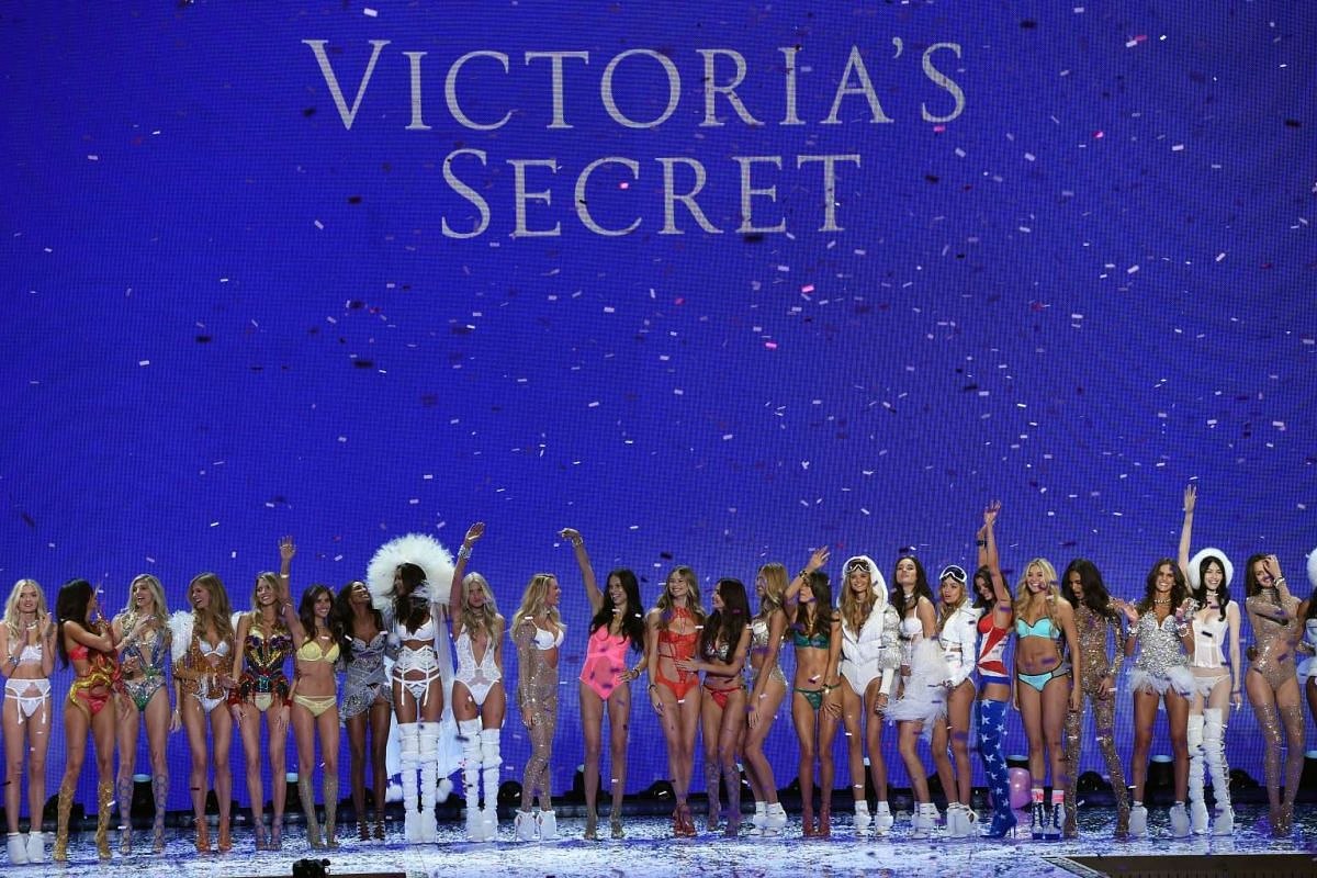 Models and angels all in a row on the runway at the 2015 Victoria's Secret Fashion Show in New York on Nov 10, 2015.