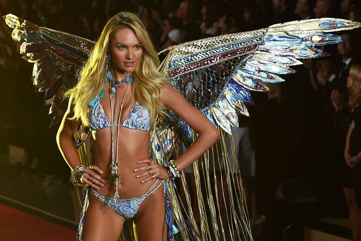 A model on the runway during the 2015 Victoria's Secret Fashion Show in New York on Nov 10, 2015.