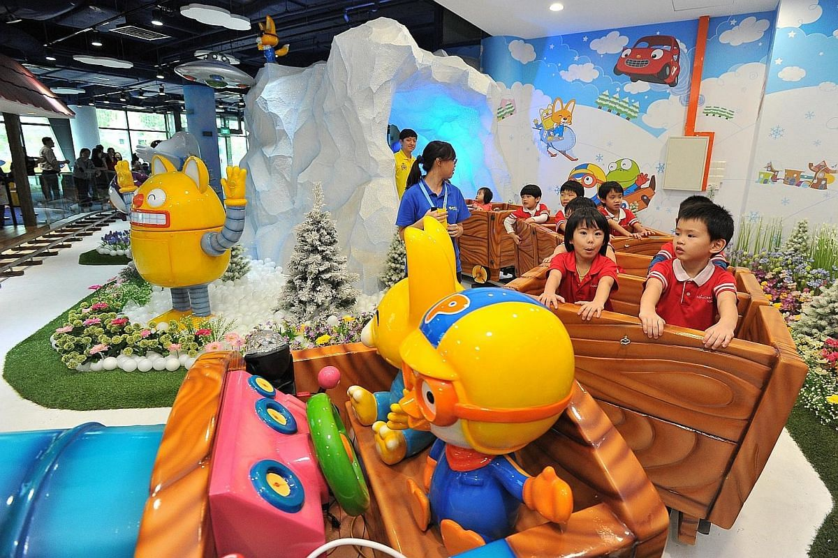 Animated penguin character Pororo now has a theme park in its honour at Marina Square mall.