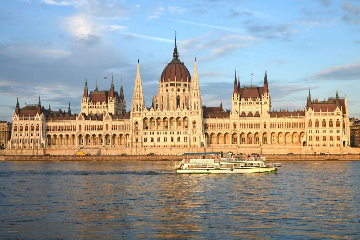 MAY 4, 5.59PM: The Hungarian Parliament Building in Budapest, Hungary.