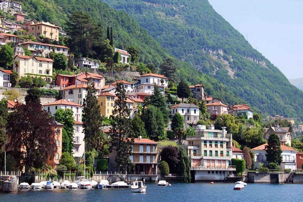 On her visits, Ms Priti Devi always stays in a historic villa on the banks of Lake Como (above), with unobstructed views of the water.
