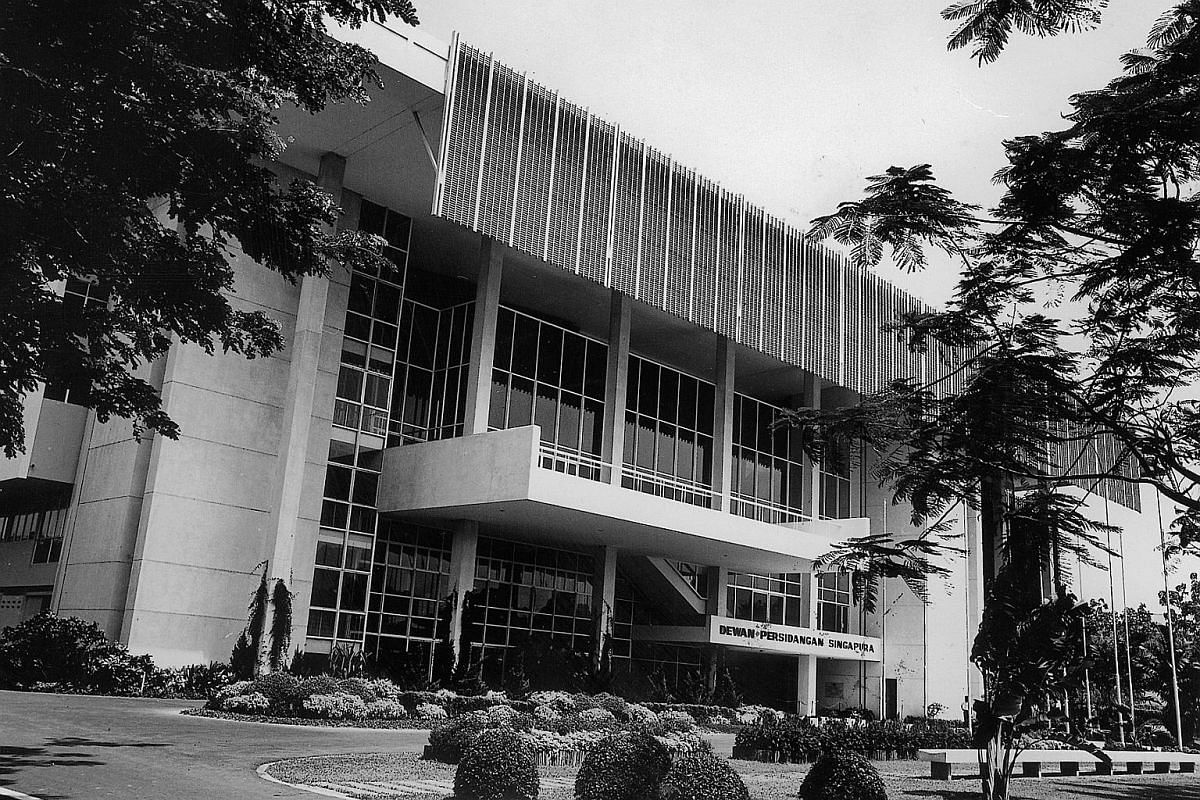 My Life So Far: Mr Lim Chong Keat, who designed the Singapore Conference Hall, showing then Law And Health Minister K. M. Bryne a model of the building in 1962. It was built in 1965 (above).