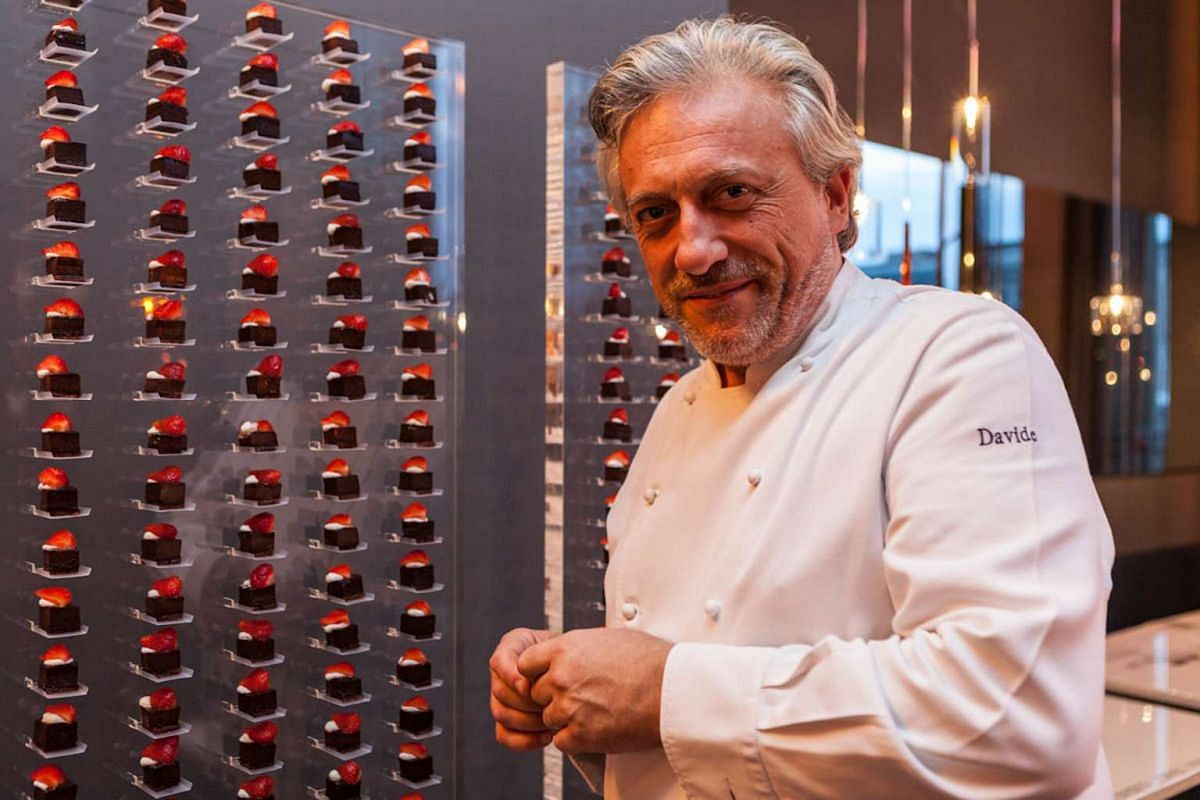 Chef Davide Scabin has come up with a concept that examines the distribution of tastes on the tongue.