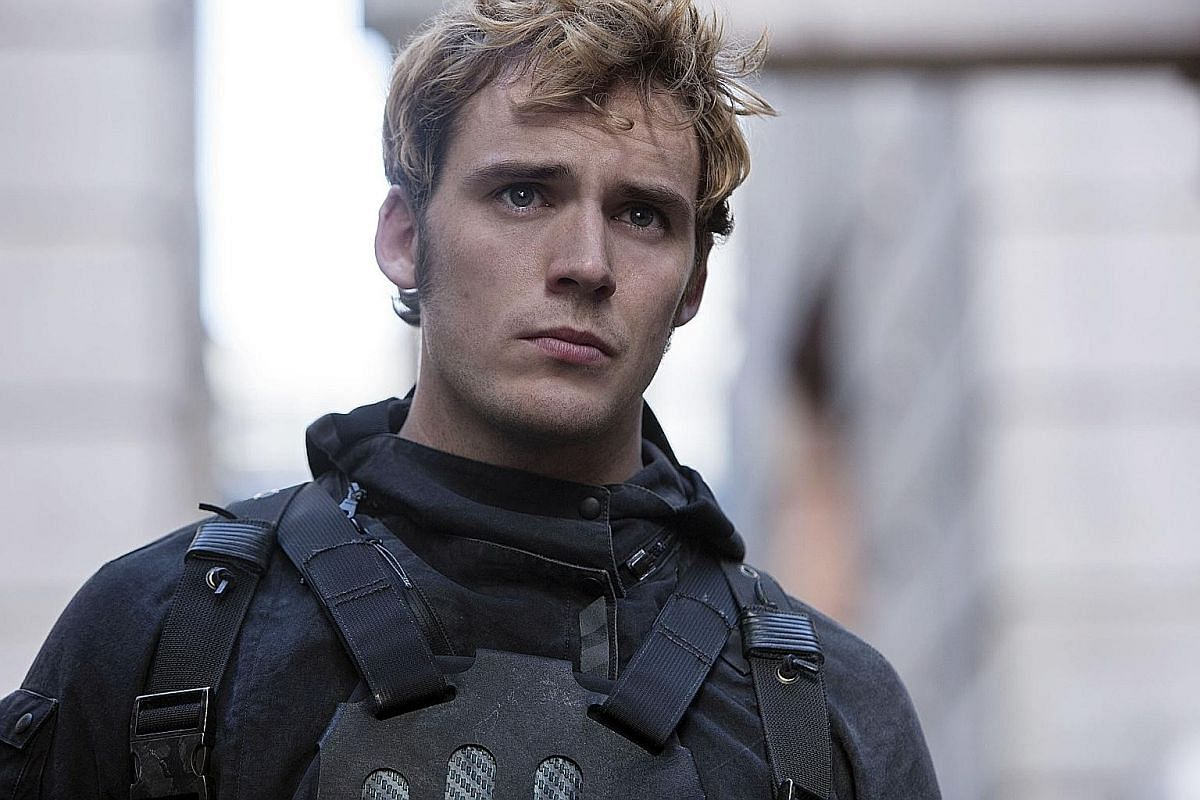 British actor Sam Claflin stars as Finnick Odair in The Hunger Games: Mockingjay Part 2.