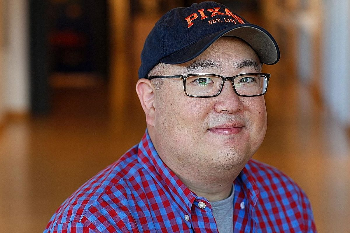 The Good Dinosaur, a tearjerker directed by animator Peter Sohn (above), who is of Korean descent, is about a boy dinosaur trying to find his way home.
