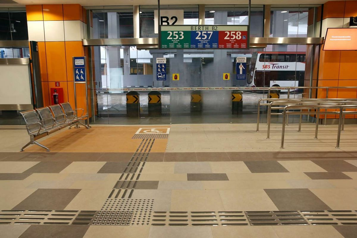 Priority zones near boarding berths at the Joo Koon integrated transport hub.