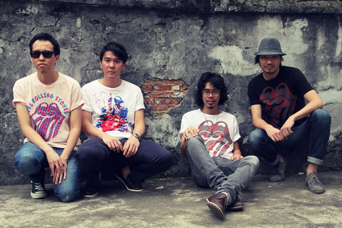 My Life So Far: Phunk members (from left) William Chan, Melvin Chee, Alvin Tan and Jackson Tan wearing the T-shirts they designed for The Rolling Stones' tour in 2011.