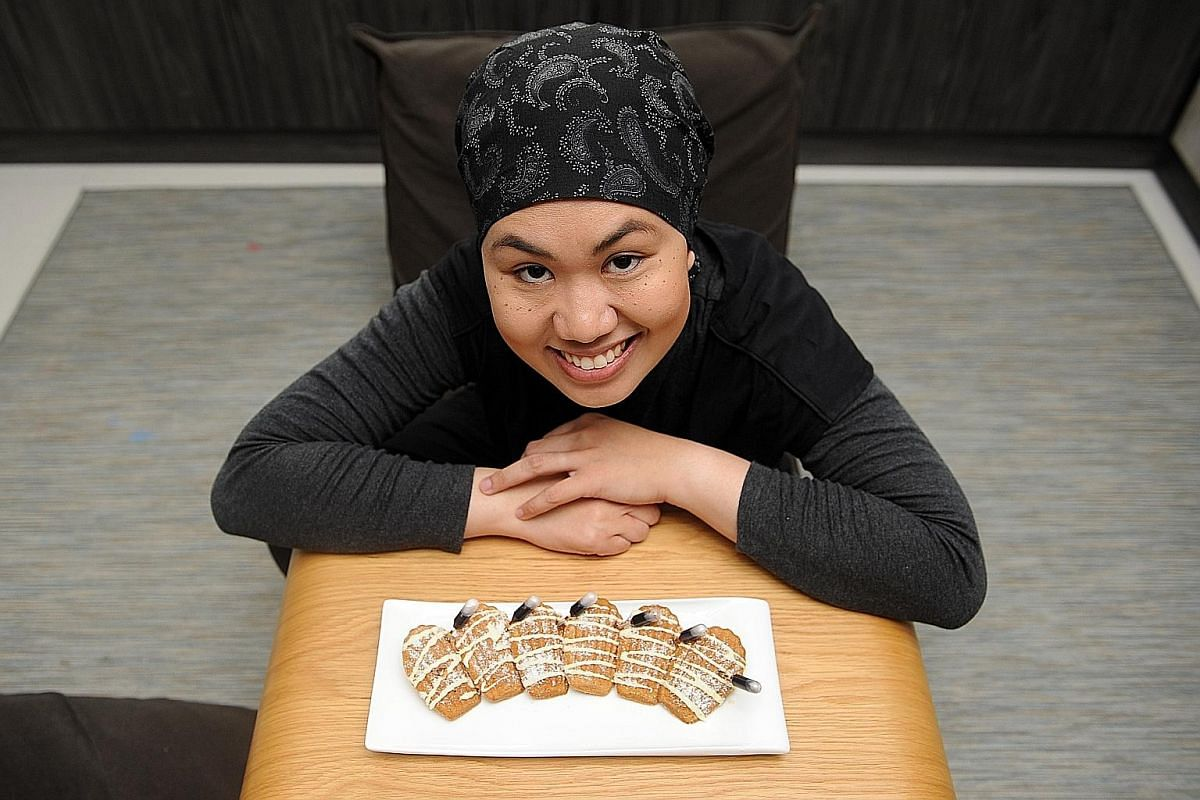 Housewife Nor Hadayah Mohamad tried five times before getting the perfect madeleines with cookie-like crisp edges and soft insides.