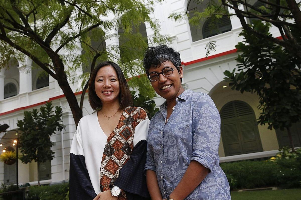 Singapore International Film Festival executive director Wahyuni Hadi (far left) and Singapore Art Museum director Susie Lingham.