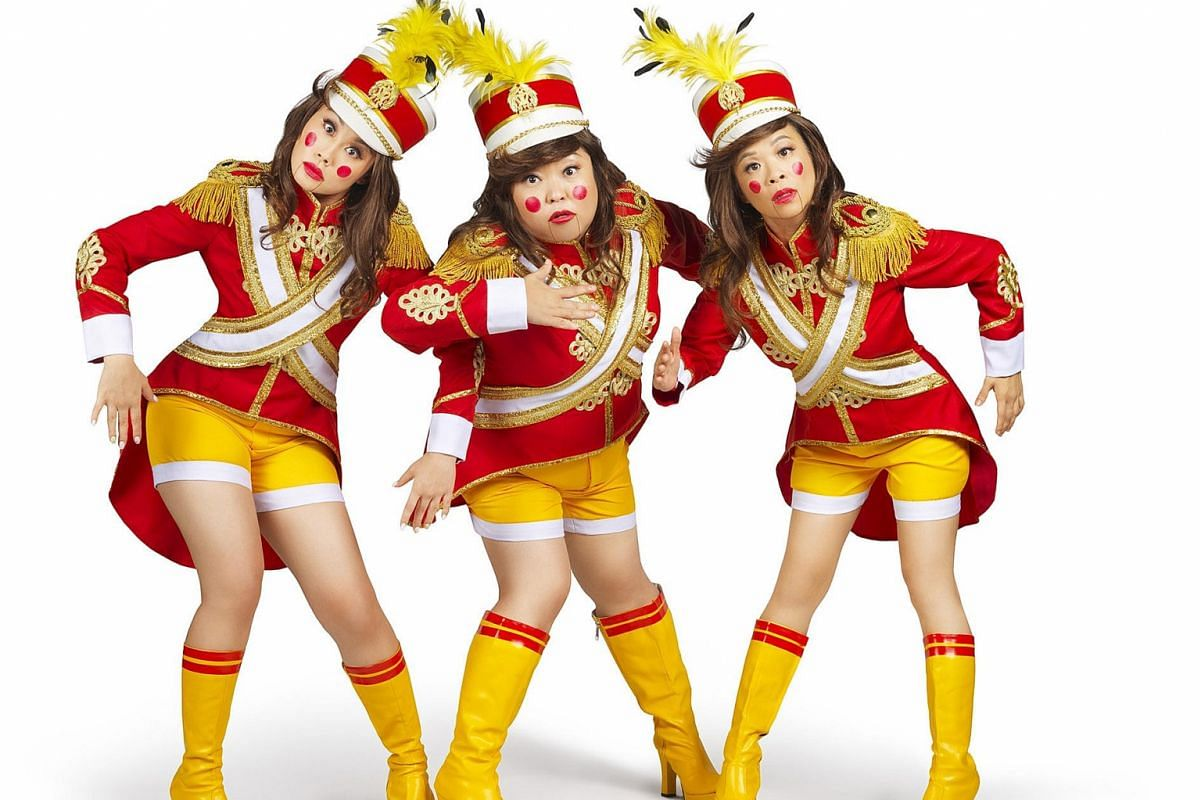 Dim Sum Dollies (above from left) Denise Tan, Selena Tan and Pam Oei will appear in Dream Academy's Crazy Christmas - A Groundnutcracker.