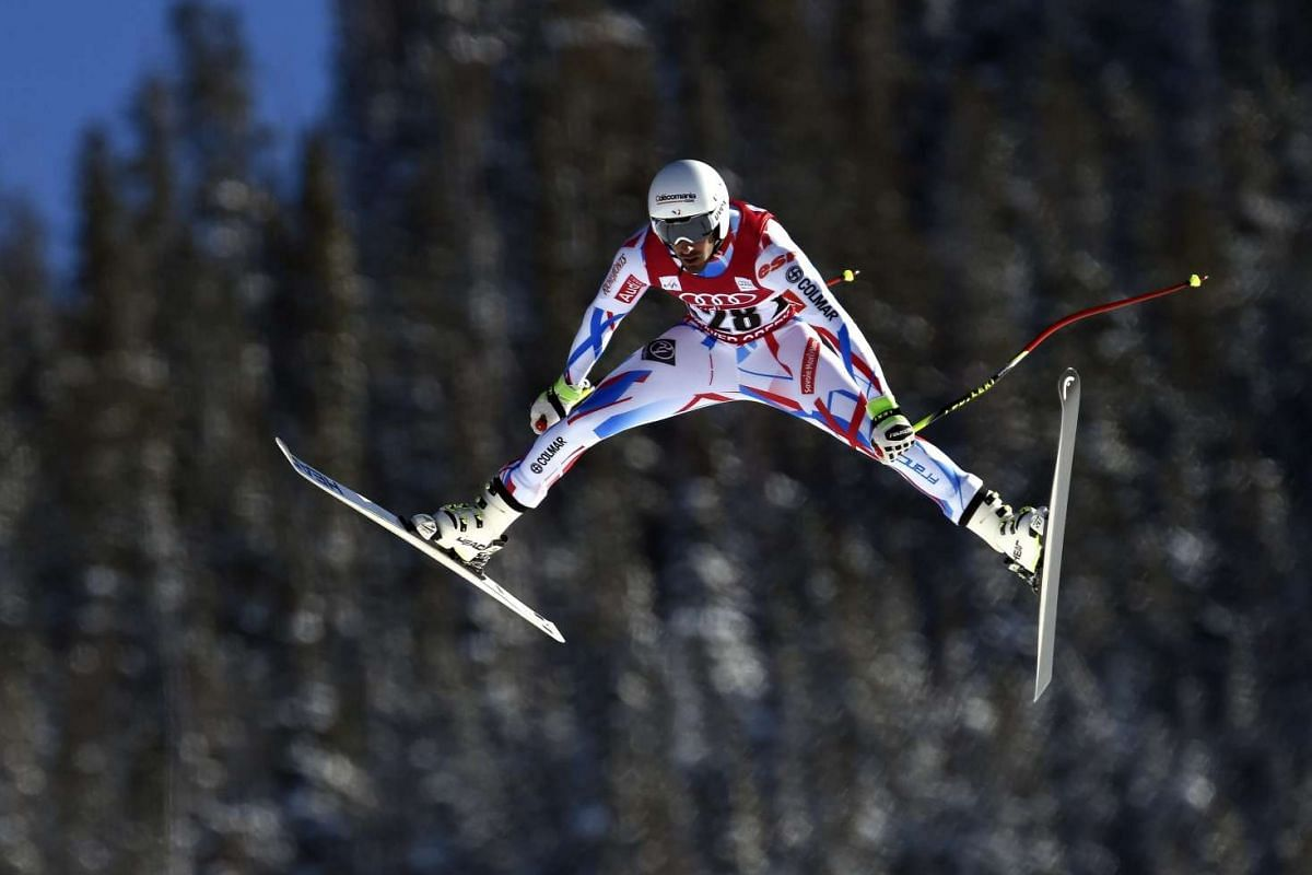 Adrien Theaux of France in action during the men's FIS Alpine Ski World Cup Downhill training run in Beaver Creek, Colorado, USA, Dec 2 2015.