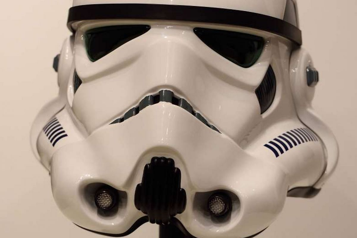More than 600 Star Wars items will go on sale at an online auction organised by Sotheby's and eBay on Dec 11, including a Stormtrooper helmet from Episode IV: A New Hope.