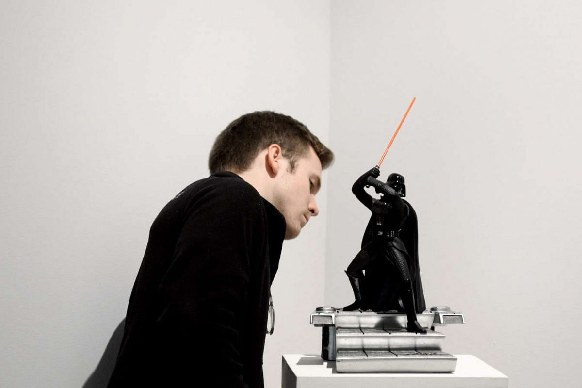 More than 600 Star Wars items will go on sale at an online auction organised by Sotheby's and eBay on Dec 11, including a Darth Vader Cinemacast statue, expected to sell for $282 to $564.