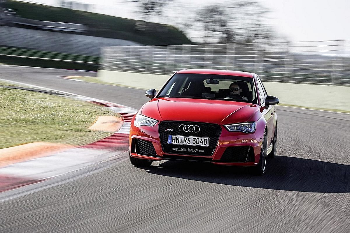 The Audi RS3 is the most powerful hatchback on the market now.