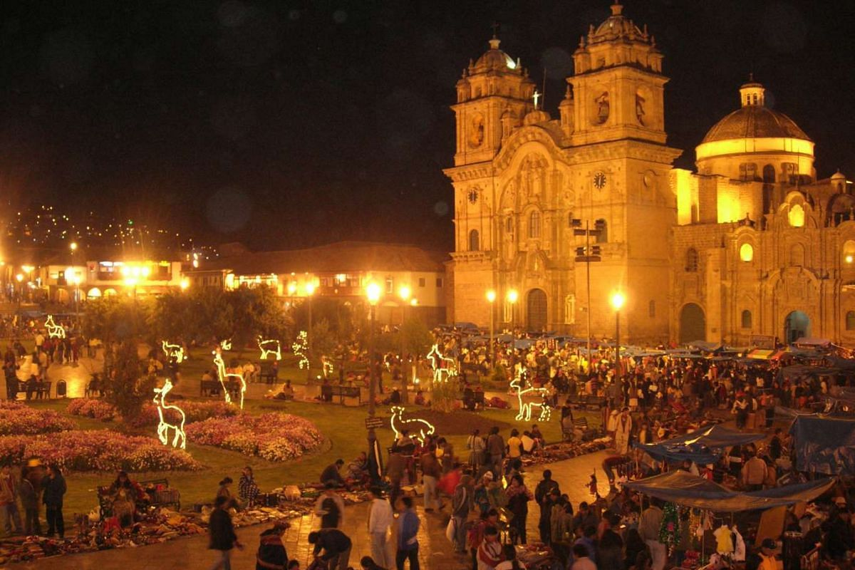 There are Christmas celebrations aplenty in the city of Cusco, where the Santurantikuy market at Plaza de Armas (above) is considered the pinnacle of all festivities.