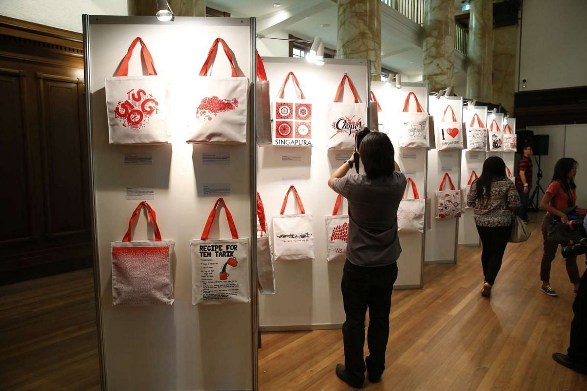 The 50 designs of the SG Funpacks were unveiled on June 3, 2015. Each tote bag contains memorabilia straight out of a Singapore childhood of yesteryear. The items include games such as capteh (weighted shuttlecock) and snacks like haw flakes.